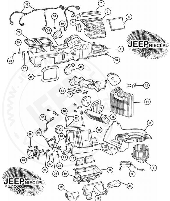 Jeep Wrangler Rear Seat Brackets as well 5hftf Chevrolet Impala Ltz Loud Clicking Noise  ing besides 4s8eu Dodge Ram 2500 98 Dodge Ram 2500 Heater Core Replacement as well Wj zrob poradnik z uk together with 88 Xj Wiring Diagram Wiring Diagrams. on 1997 jeep wrangler